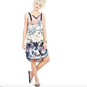 Adelyn Rae Frances Blue Coral Slip Dress